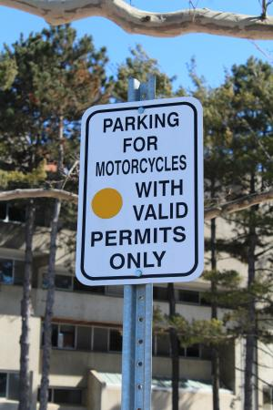 Picture of Motorcycle Parking Sign