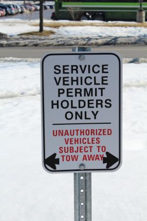 Service Vehicle Parking Sign