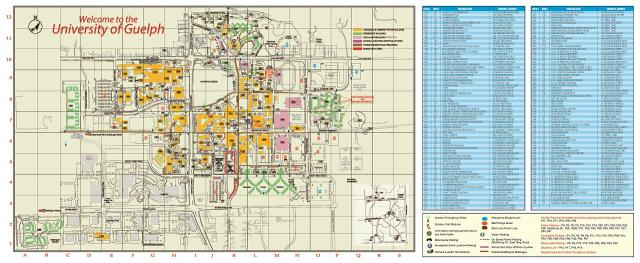 University Of Guelph Map Printable Campus Map | Sustainable Transportation & Parking Services